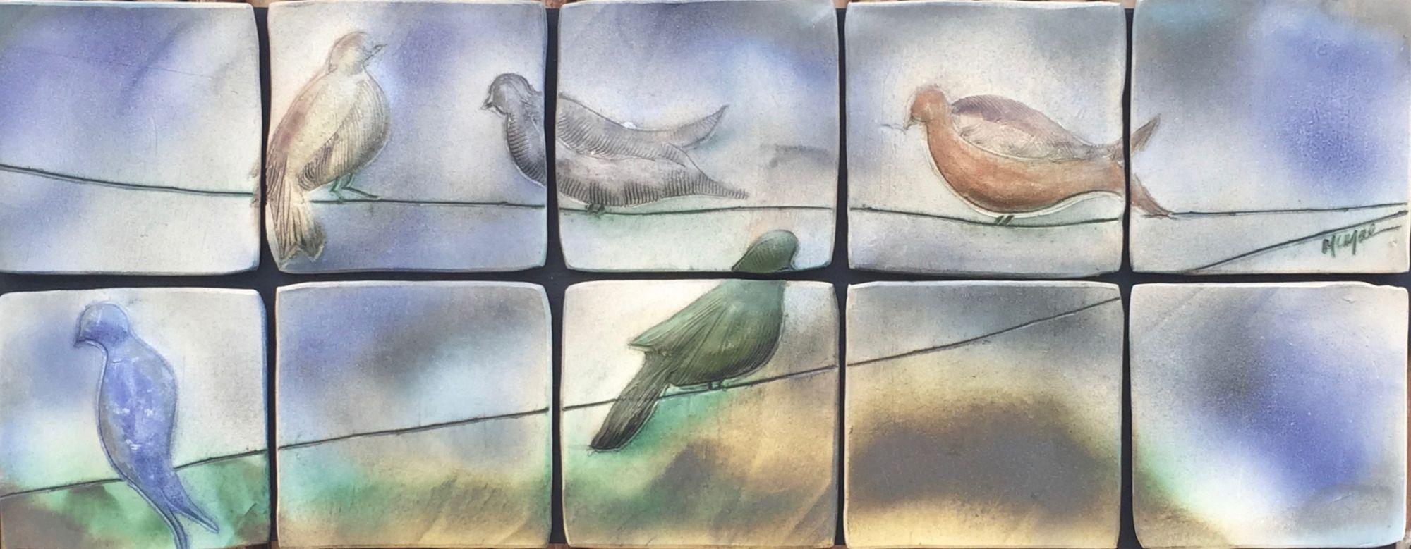 Birds on a Wire, original ceramic art piece by Brenda McMahon ...